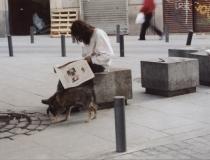 una persona sin hogar, 2002