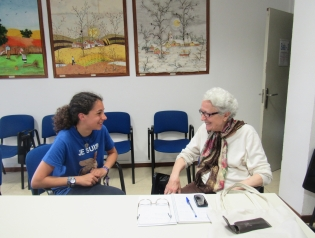 Carmen Lorca con Silvia