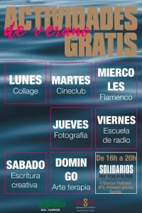 Cartel Campaña de calor. Sevilla. Solidarios para el Desarrollo